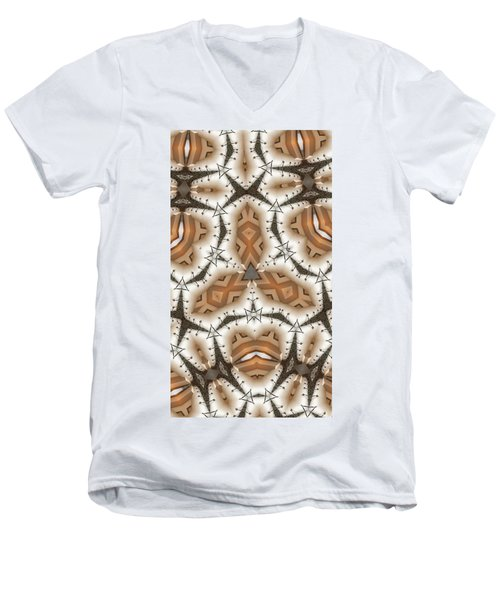 Stitched 2 Men's V-Neck T-Shirt by Ron Bissett