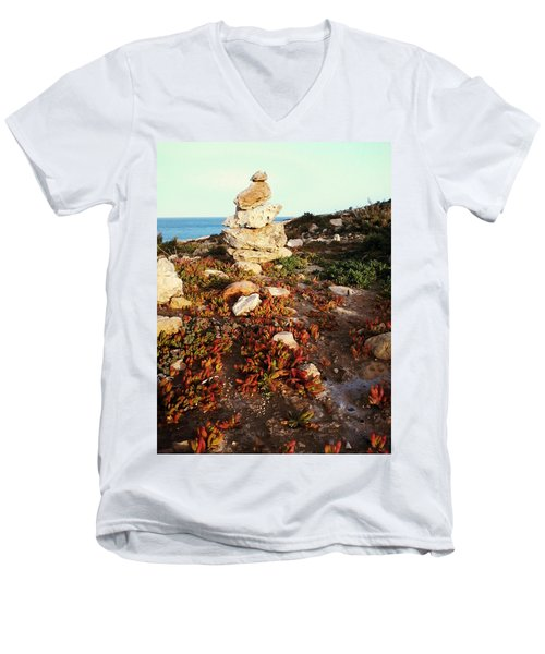 Stone Balance Men's V-Neck T-Shirt