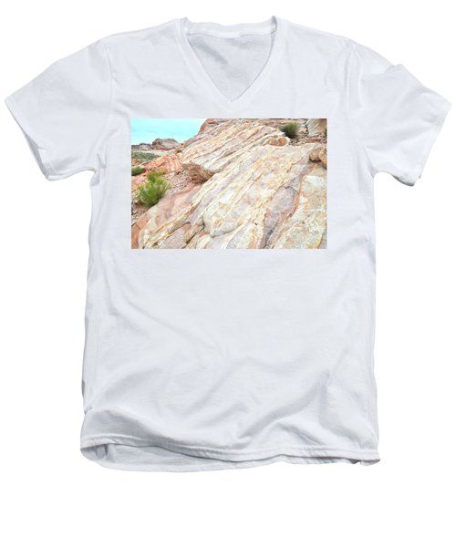 Men's V-Neck T-Shirt featuring the photograph Stone Feet In Valley Of Fire by Ray Mathis