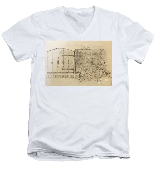Stone Gate Men's V-Neck T-Shirt