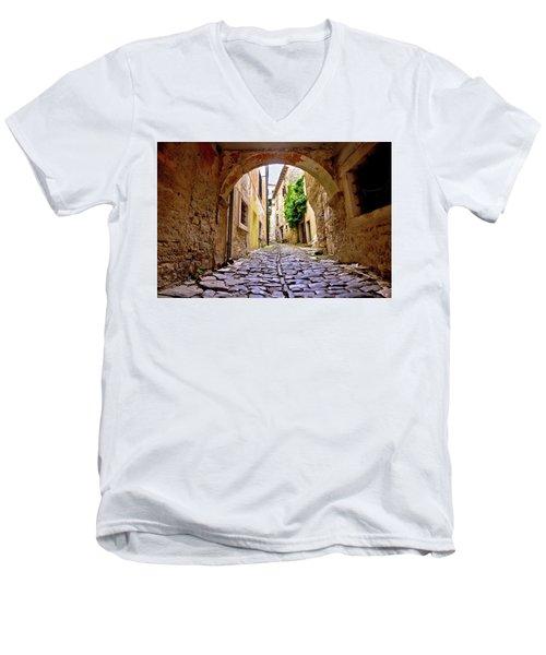 Stone Town Of Groznjan Old Street  Men's V-Neck T-Shirt