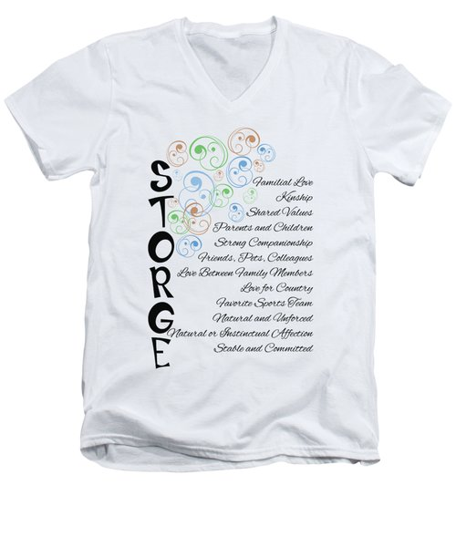 Storge- Familial Love Men's V-Neck T-Shirt