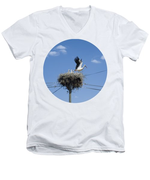 Storks Nest Alentejo Men's V-Neck T-Shirt by Mikehoward Photography