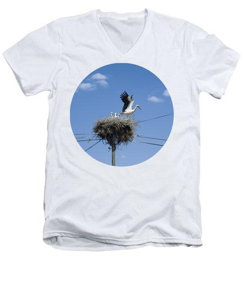 Storks Nest Alentejo Men's V-Neck T-Shirt