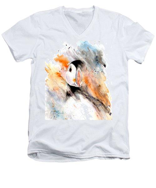 Storm Puffin Men's V-Neck T-Shirt