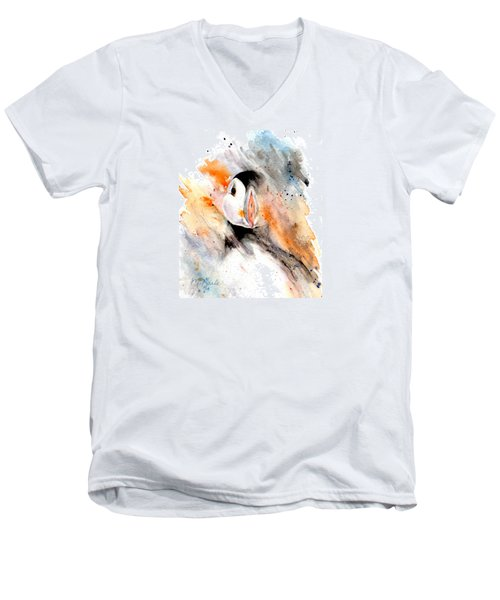 Storm Puffin Men's V-Neck T-Shirt