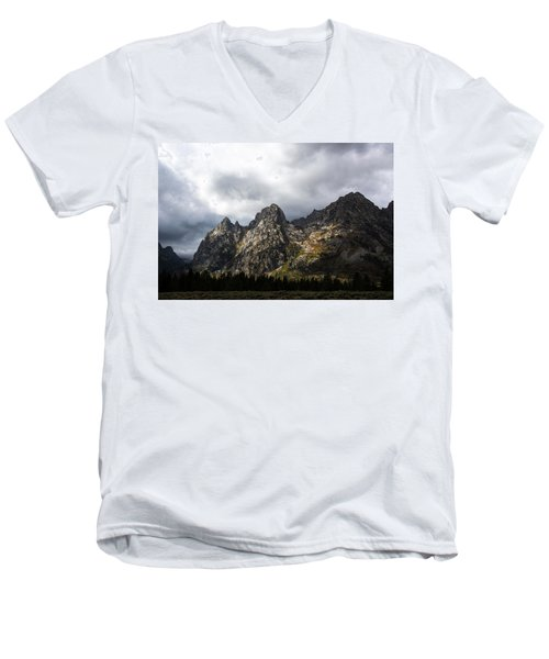 Men's V-Neck T-Shirt featuring the photograph Storming Light by Colleen Coccia