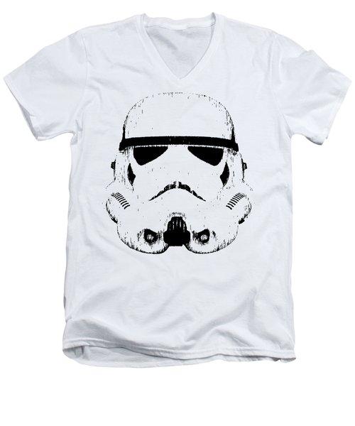 Stormtrooper Helmet Star Wars Tee Black Ink Men's V-Neck T-Shirt