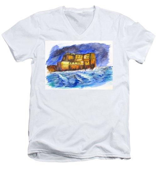 Stormy Castle Dell'ovo, Napoli Men's V-Neck T-Shirt