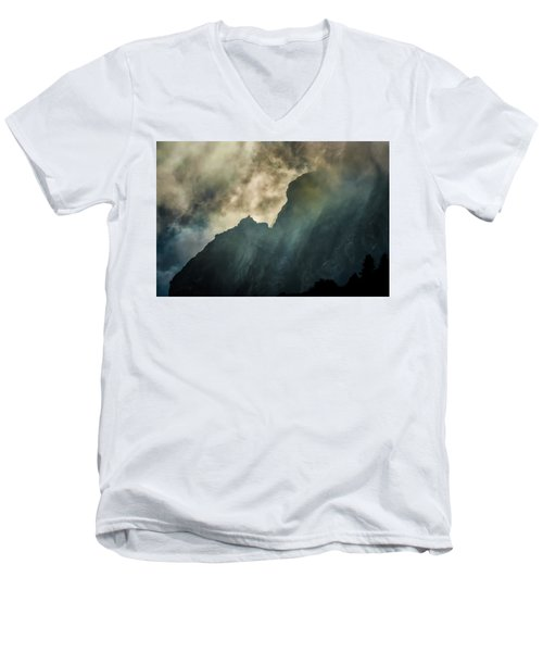 Stormy Wasatch- Rays Men's V-Neck T-Shirt