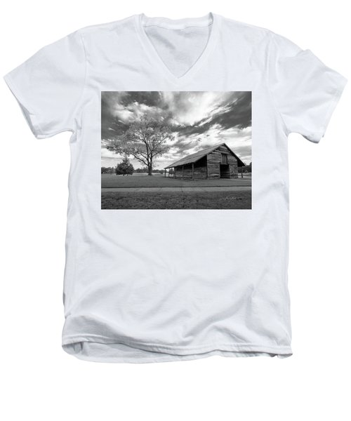 Men's V-Neck T-Shirt featuring the photograph Stormy Weather by George Randy Bass