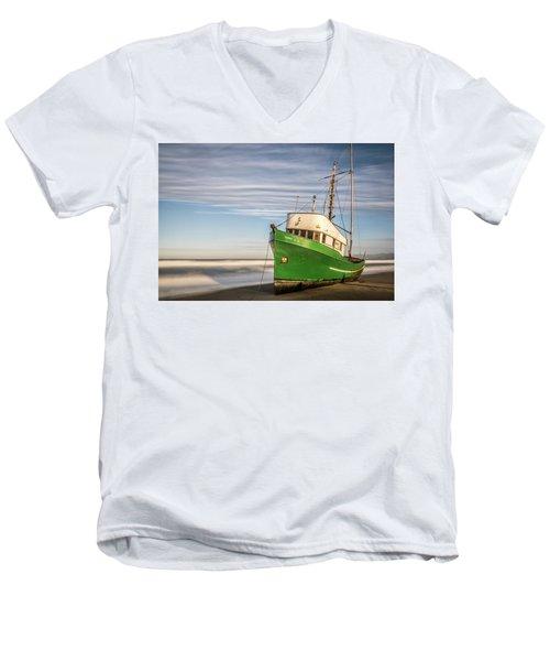 Stranded On The Beach Men's V-Neck T-Shirt by Jon Glaser