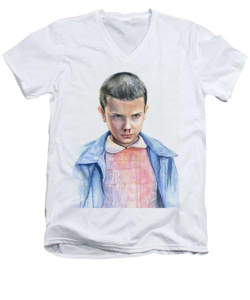 Stranger Things Eleven Portrait Men's V-Neck T-Shirt