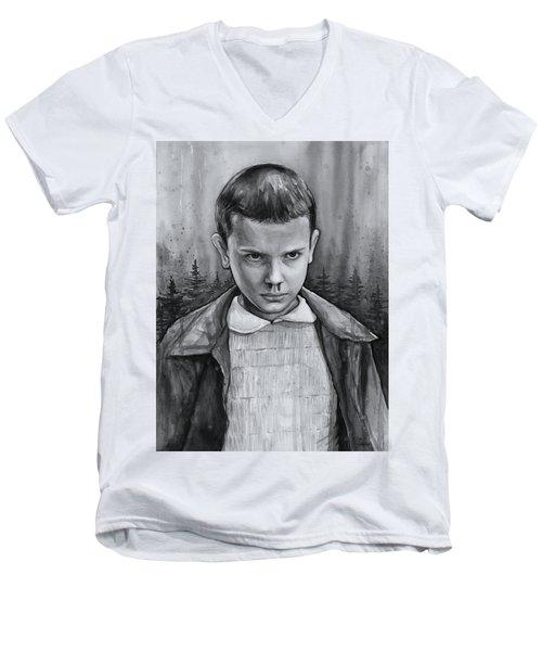 Stranger Things Fan Art Eleven Men's V-Neck T-Shirt