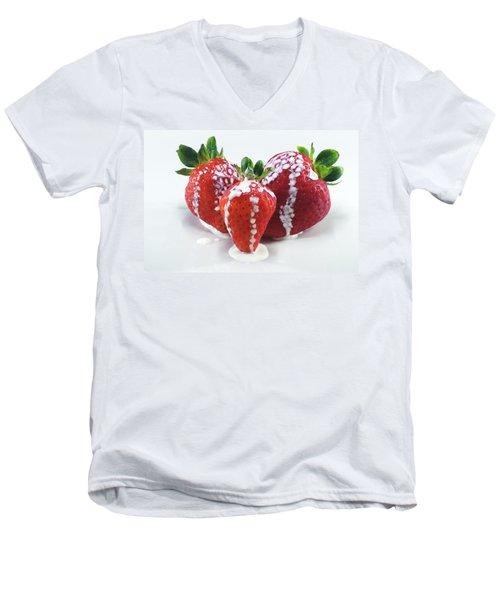 Strawberries And Cream Men's V-Neck T-Shirt
