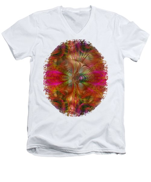 Strawberry Fields Abstract Men's V-Neck T-Shirt by Sharon and Renee Lozen