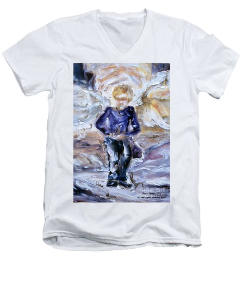 Street Angel Men's V-Neck T-Shirt