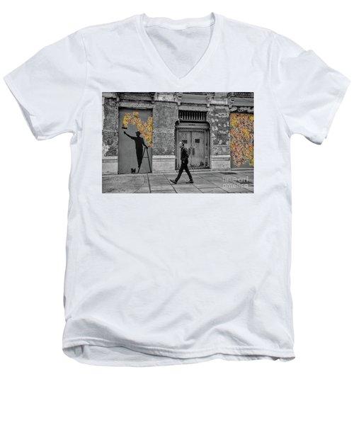Street Art In Malaga Spain Men's V-Neck T-Shirt