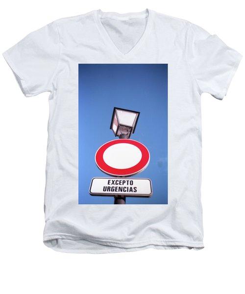 Street Sign Men's V-Neck T-Shirt