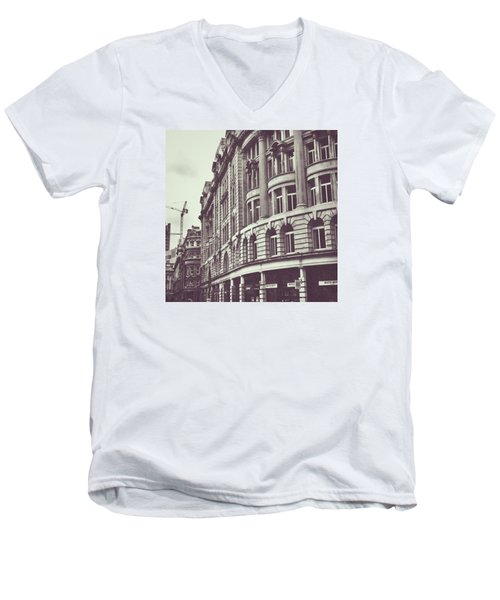 Streets Of London Men's V-Neck T-Shirt by Trystan Oldfield