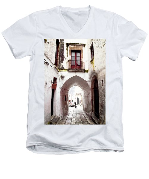 Streets Of Ostuni Men's V-Neck T-Shirt