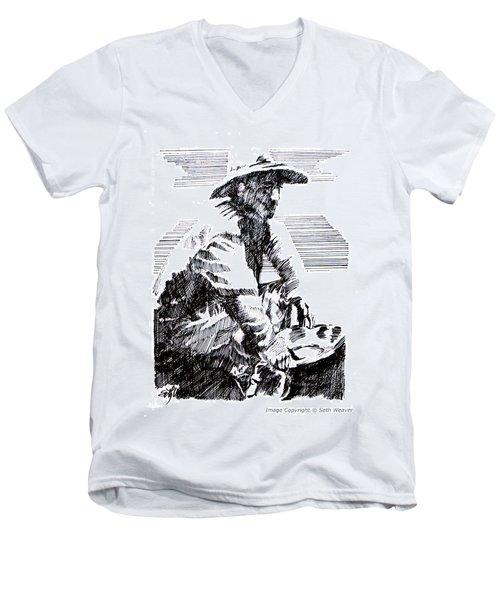 Striking It Rich Men's V-Neck T-Shirt