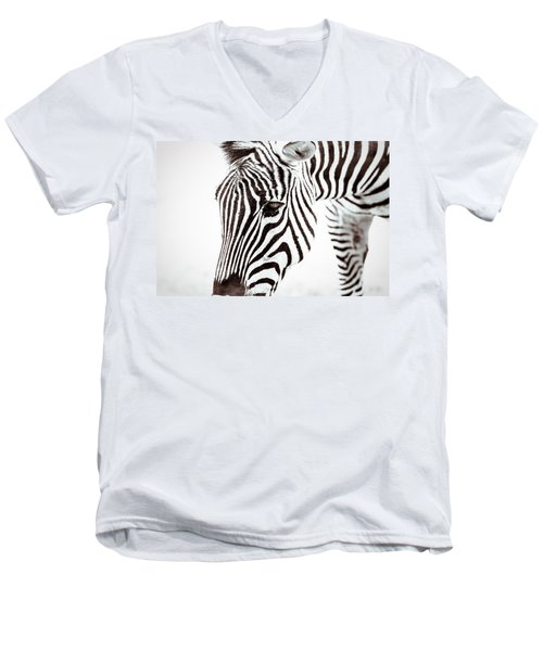 Men's V-Neck T-Shirt featuring the photograph Striped by Wade Brooks
