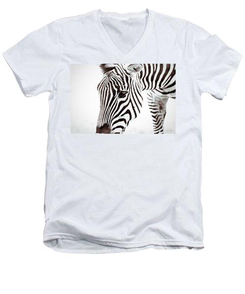 Striped Men's V-Neck T-Shirt by Wade Brooks