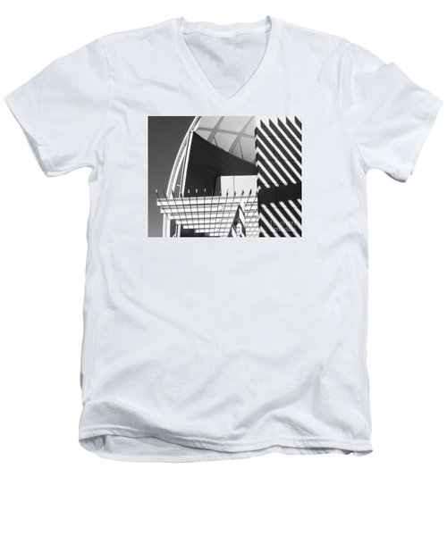 Structure Abstract 3 Men's V-Neck T-Shirt by Cheryl Del Toro