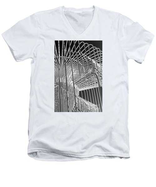 Structure Abstract 4 Men's V-Neck T-Shirt