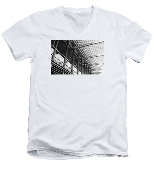 Men's V-Neck T-Shirt featuring the photograph Structure Abstract 9 by Cheryl Del Toro