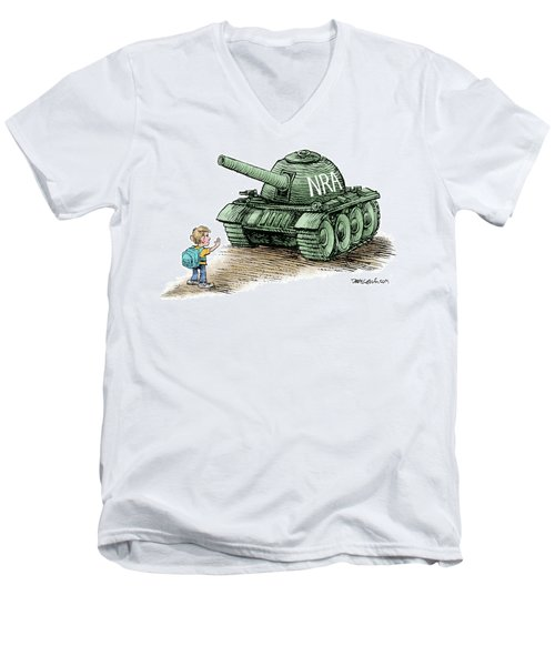 Students Vs The Nra Men's V-Neck T-Shirt