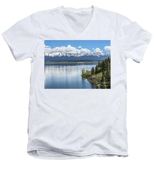 Stunning Colorado Men's V-Neck T-Shirt by William Wyckoff