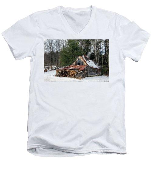 Sugar King's Smokehouse Men's V-Neck T-Shirt by Betty Denise