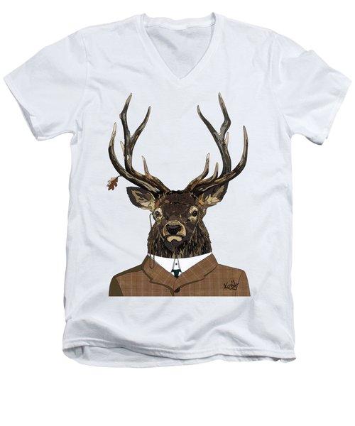 Suited  Men's V-Neck T-Shirt
