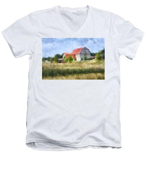 Summer Barn Men's V-Neck T-Shirt by Francesa Miller