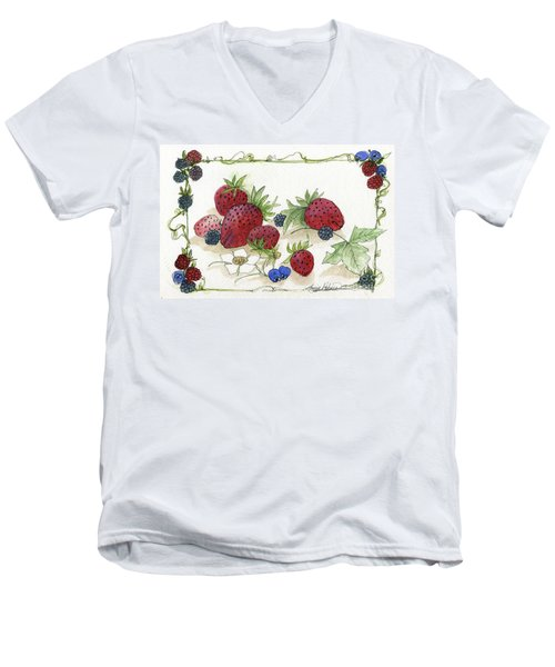 Summer Berries Men's V-Neck T-Shirt