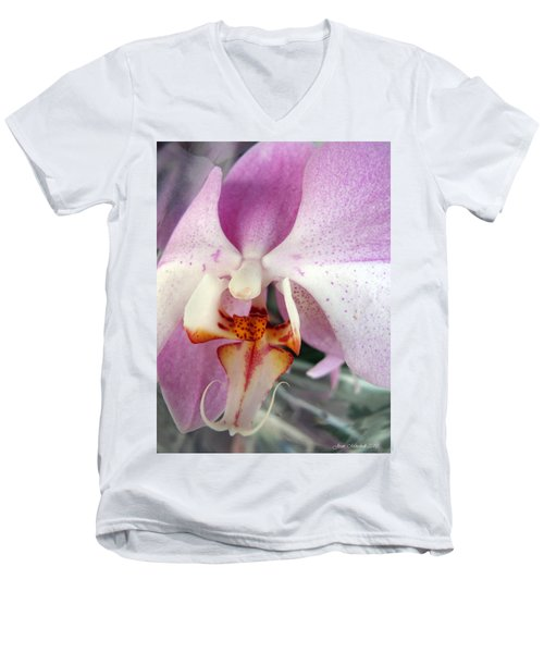 Men's V-Neck T-Shirt featuring the photograph Summer Bloom by Joan  Minchak