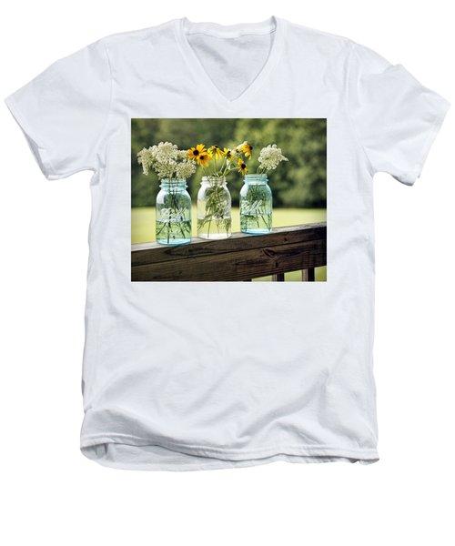 Summer Blooms Men's V-Neck T-Shirt