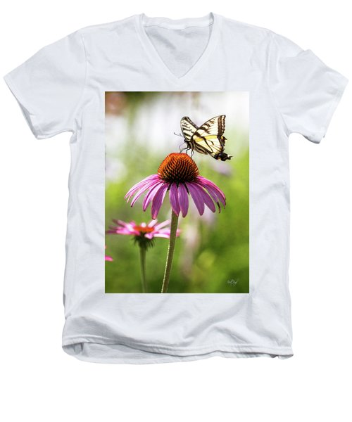 Men's V-Neck T-Shirt featuring the photograph Summer Colors by Everet Regal