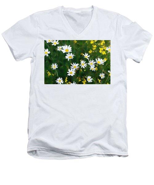 Summer Daisies Men's V-Neck T-Shirt