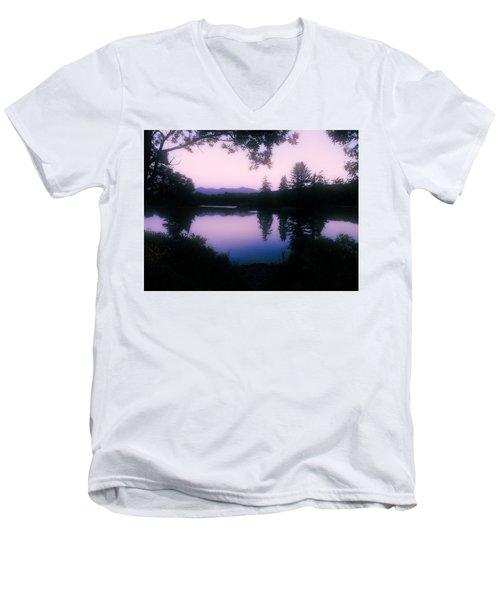 Summer Evening In New Hampshire Men's V-Neck T-Shirt by Robin Regan