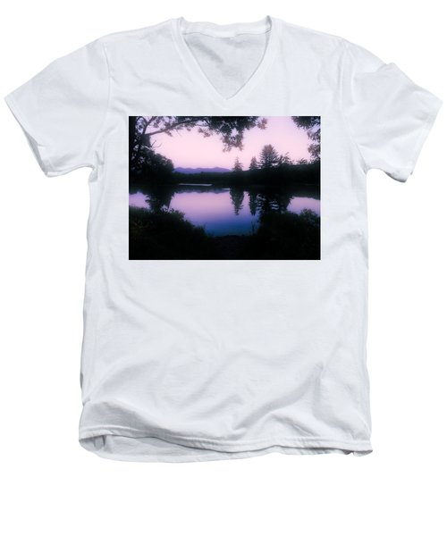 Summer Evening In New Hampshire Men's V-Neck T-Shirt