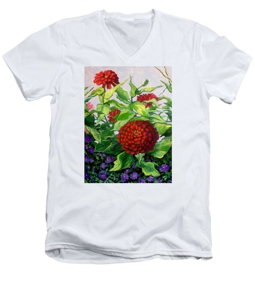 Summer Flowers 3 Men's V-Neck T-Shirt
