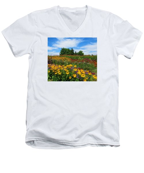 Summer Flowers In Pa Men's V-Neck T-Shirt by Jeanette Oberholtzer