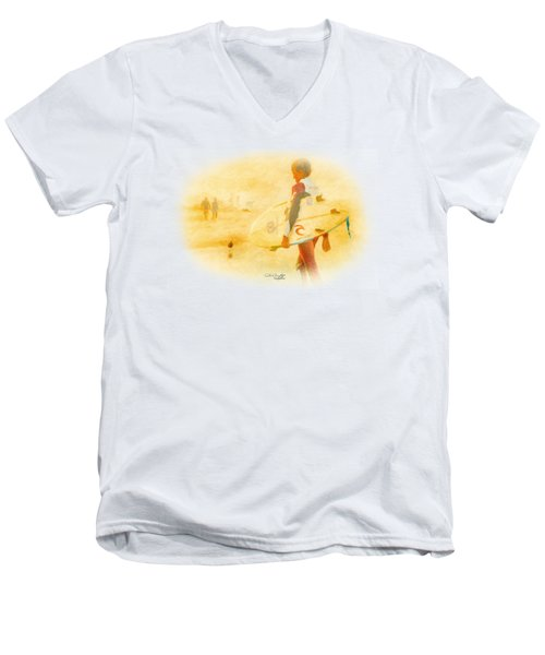 Summer II Men's V-Neck T-Shirt by Chris Armytage
