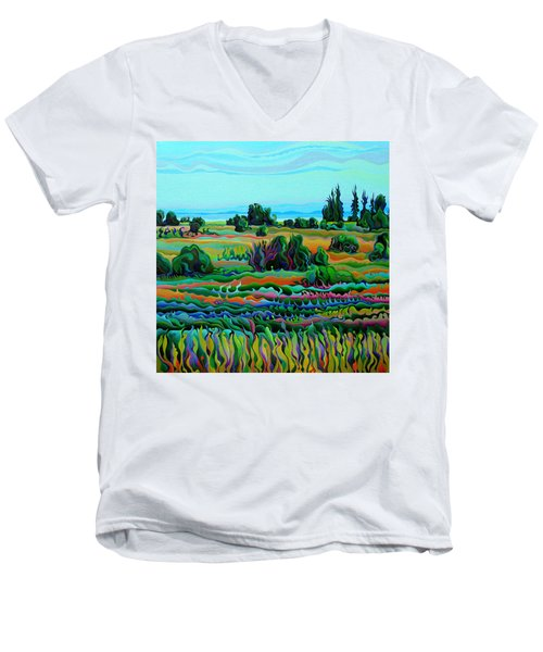 Summer Meadow Dance Men's V-Neck T-Shirt