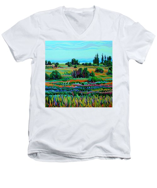 Summer Meadow Dance Men's V-Neck T-Shirt
