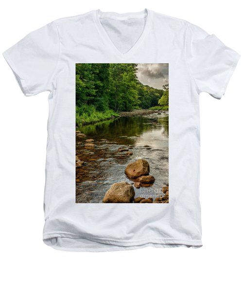 Summer Morning Williams River Men's V-Neck T-Shirt