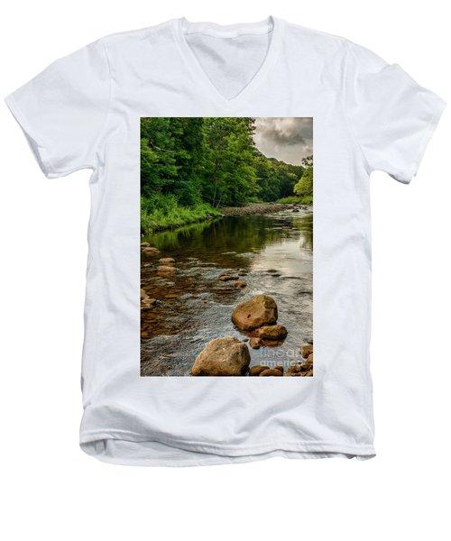 Summer Morning Williams River Men's V-Neck T-Shirt